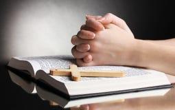 圣洁圣经女性的现有量开张 图库摄影