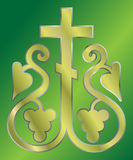圣洁基督徒交叉的葡萄 免版税库存照片