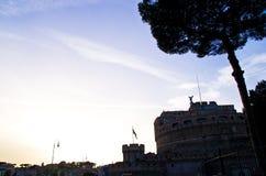 圣洁天使的城堡 库存图片