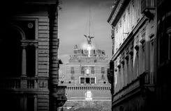 圣洁天使Castel Ro的Sant安吉洛的Castel的Fcade 免版税库存图片