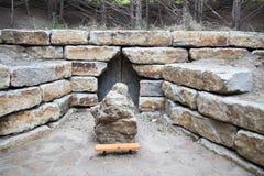 圣洁家庭寺庙的Gretna内布拉斯加洞穴 库存图片