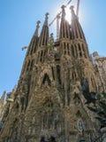 圣洁家庭的赎罪的寺庙的看法 巴塞罗那 免版税库存图片