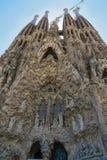 圣洁家庭的赎罪的寺庙的门面的片段 免版税库存照片