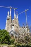 圣洁家庭` Sagrada Familia `的教会 巴塞罗那卡塔龙尼亚 库存照片