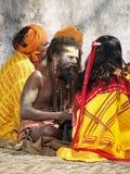 圣洁尼泊尔sadhu 免版税库存图片