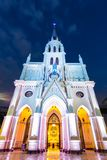 圣洁念珠教会,曼谷,泰国 库存照片