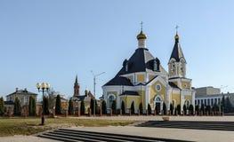 圣洁易三仓礼拜堂在列奇察-城市的装饰 给寺庙历史和文化价值法规  免版税库存图片