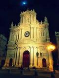 圣洁晚上在城市 库存照片