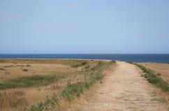 圣洁海岛横向 库存图片