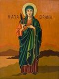 圣洁玛丽油画贞女 免版税库存照片