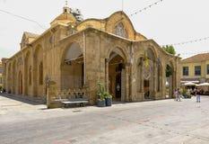 圣洁玛丽Orothodox教会的看法在尼科西亚,塞浦路斯 库存照片