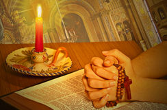 圣洁的圣经 库存照片