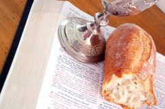 圣洁的圣餐 免版税库存照片