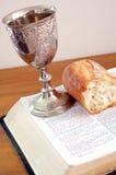 圣洁的圣餐 库存照片