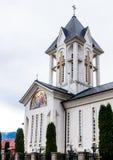 圣洁皇帝康斯坦丁和海伦娜的东正教在Alexandru Odobescu街上的在布拉索夫市在罗马尼亚 库存照片