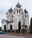 圣洁皇帝康斯坦丁和海伦娜的东正教在Alexandru Odobescu街上的在布拉索夫市在罗马尼亚 免版税库存图片
