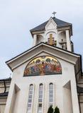 圣洁皇帝康斯坦丁和海伦娜的东正教在Alexandru Odobescu街上的在布拉索夫市在罗马尼亚 库存图片