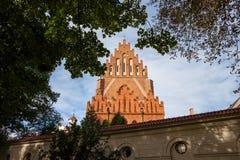 圣洁纽约三一教堂和多米尼加共和国的修道院在克拉科夫 库存图片