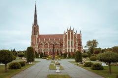 圣洁纽约三一教堂在Gervyat白俄罗斯 免版税库存图片