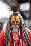 圣洁者sadhu shaiva 库存照片