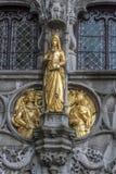 圣洁血液布鲁日的外部细节大教堂 免版税库存图片