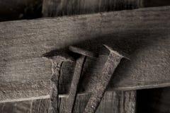 圣洁钉子和圣洁十字架的描述 免版税库存图片