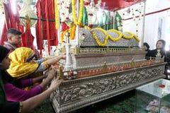 圣洁阿修罗庆祝达卡,孟加拉国 免版税图库摄影