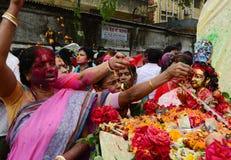 圣洁阿修罗庆祝达卡,孟加拉国 库存照片