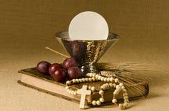 圣洁首先的圣餐 免版税图库摄影