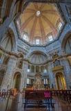 圣洛伦佐马焦雷大教堂在米兰,意大利,内部 免版税库存图片