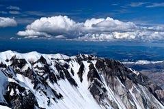 圣海伦山火山口视图 免版税库存照片