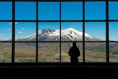 圣海伦火山看法  免版税库存图片
