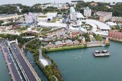 圣淘沙海岛新加坡鸟瞰图  图库摄影