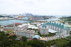 圣淘沙,新加坡- 2017年1月31日:圣淘沙海岛在新加坡 位于东部新加坡海岛 图库摄影
