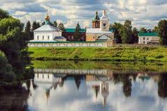 圣灵修道院在Borovichi 免版税库存照片