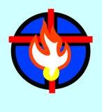 圣灵和十字架 图库摄影