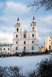 圣灵大教堂,米斯克,白俄罗斯 图库摄影
