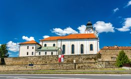圣灵的方济会修士教会在Levoca,斯洛伐克 库存照片