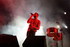 圣灵!(带)在Bime节日的实况音乐展示 免版税库存图片