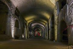 圣热纳罗地下墓穴在那不勒斯,意大利 免版税库存图片