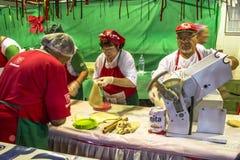 圣热纳罗宴餐  库存图片