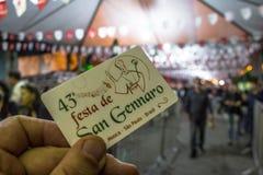 圣热纳罗宴餐  图库摄影