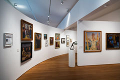 圣特尔莫博物馆内部在圣塞瓦斯蒂安 免版税库存照片