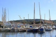 圣特罗佩港口  免版税库存图片
