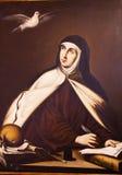 圣特里萨Painting Convento de圣诞老人特里萨阿维拉卡斯提尔西班牙 免版税库存图片