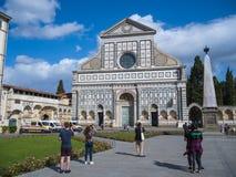 圣玛丽亚中篇小说教会在佛罗伦萨-佛罗伦萨/意大利- 2017年9月12日 库存图片