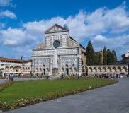 圣玛丽亚中篇小说教会在佛罗伦萨-佛罗伦萨/意大利- 2017年9月12日 库存照片