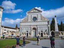 圣玛丽亚中篇小说教会在佛罗伦萨-佛罗伦萨/意大利- 2017年9月12日 免版税库存图片
