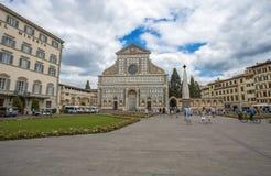 圣玛丽亚中篇小说教会看法在佛罗伦萨,托斯卡纳,意大利 图库摄影