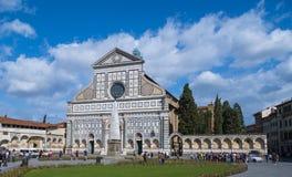 圣玛丽亚中篇小说美丽的教会在佛罗伦萨-佛罗伦萨/意大利- 2017年9月12日的心脏 免版税库存照片